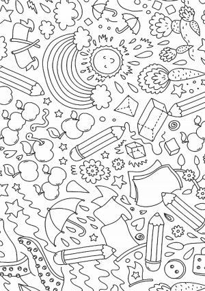 Простая раскраска антистресс для детей
