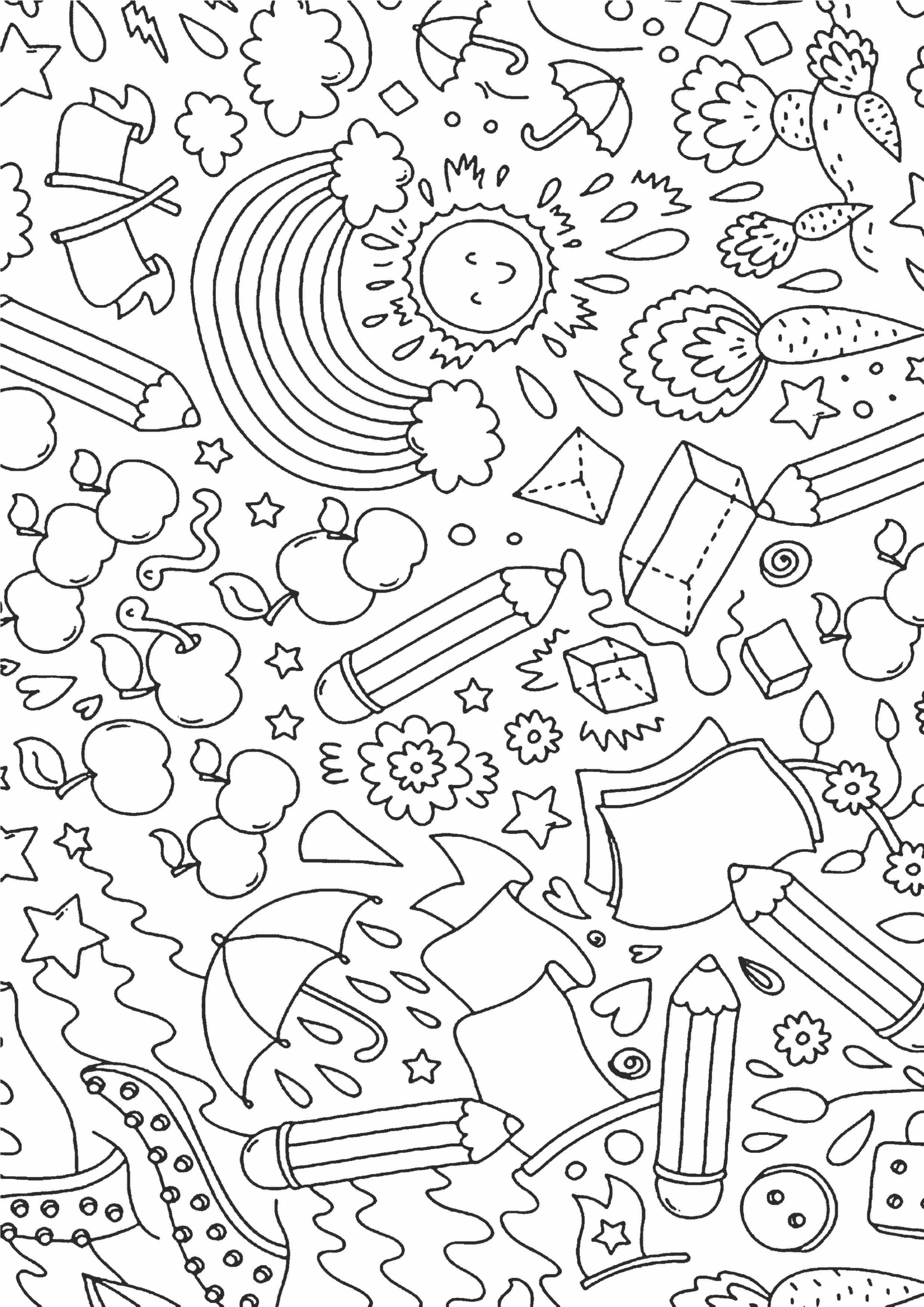 Простая раскраска антистресс для детей - Раскраски А4 ...
