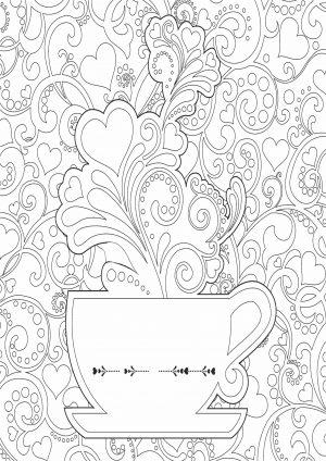 Чашка с сердцем и узором
