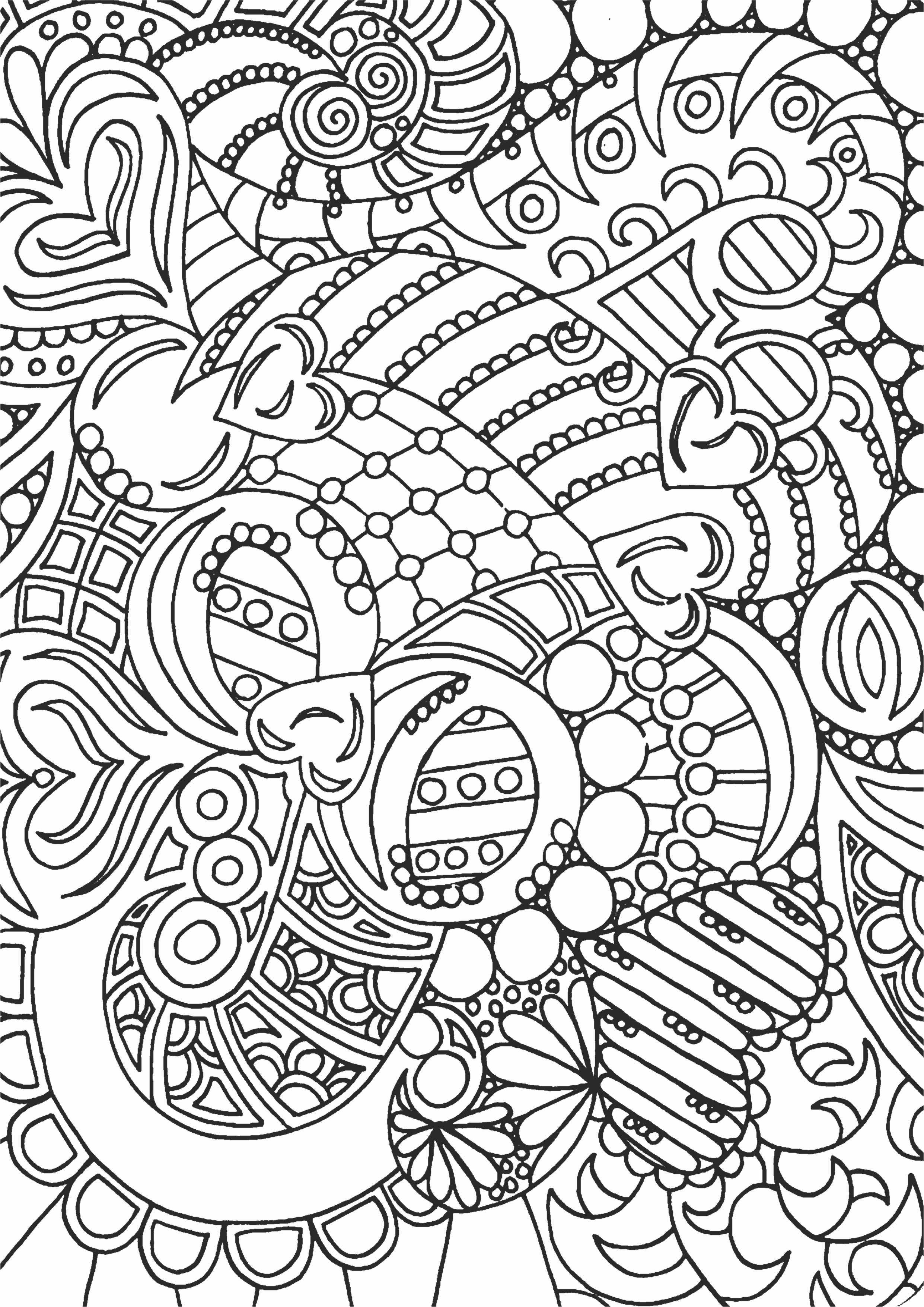 простой абстрактный узор для раскрашивания раскраски а4