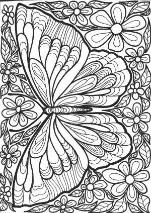 Бабочка из узора