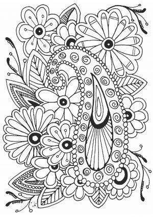 Раскраска антистресс с цветами