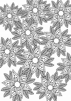 Раскраска с цветами - антистресс