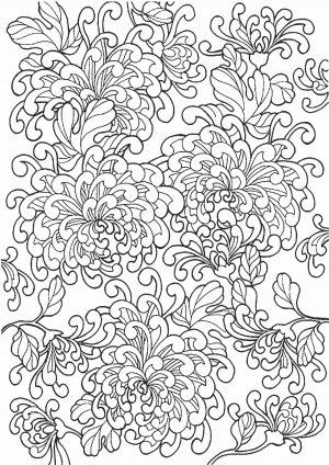 Раскраска - цветы