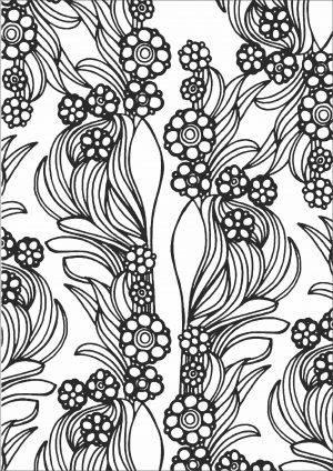 Раскраска с цветами скачать и распечатать