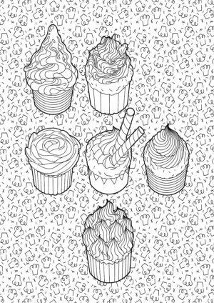 Раскраска с кексами скачать
