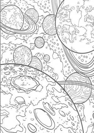 Раскраска с планетами распечатать