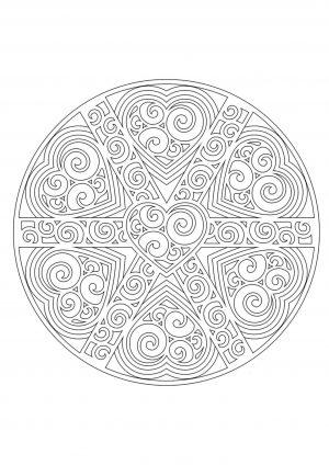 Раскраска антистресс узор в круге