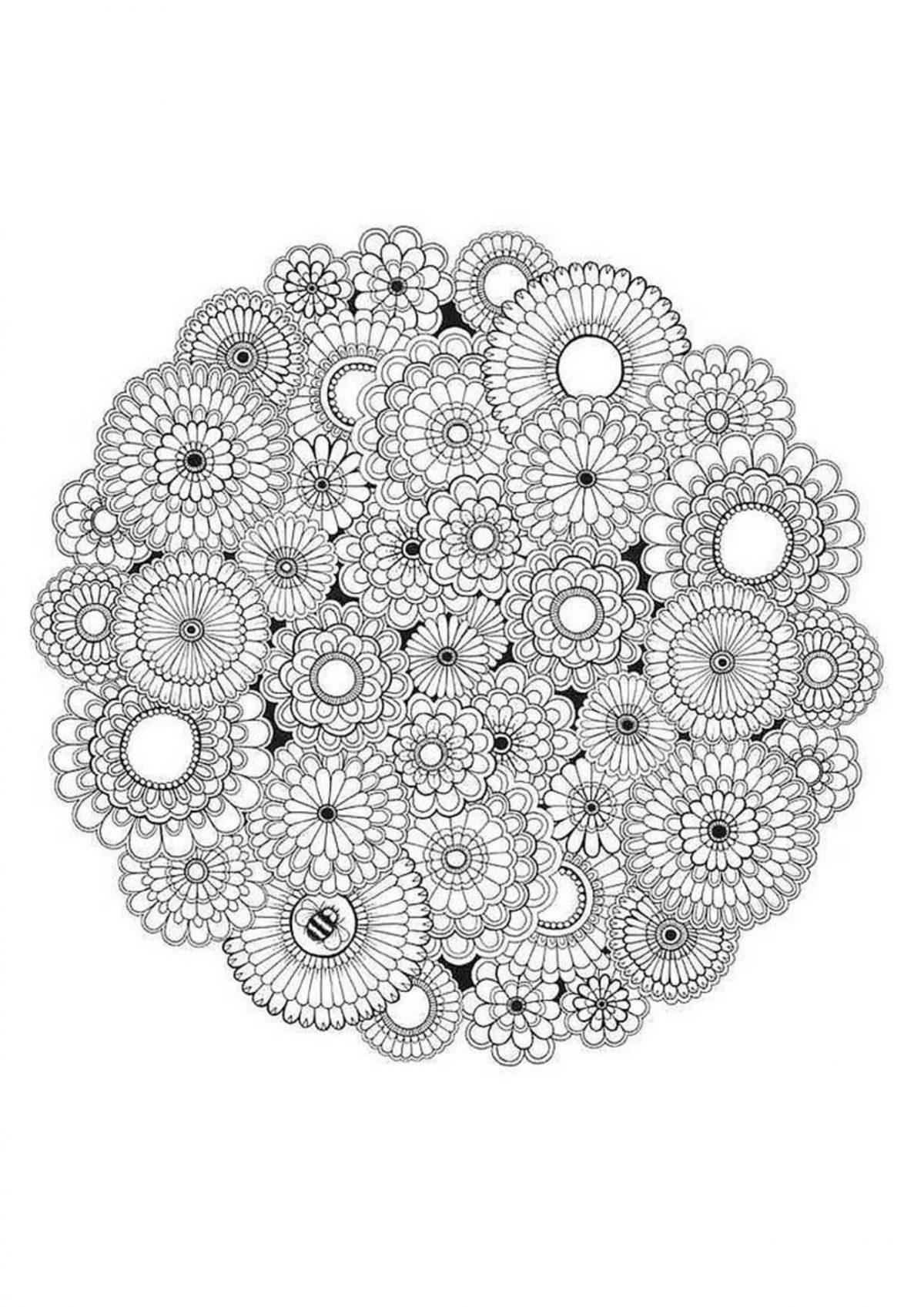 """Раскраска """" Круги в круге"""" - Раскраски А4 формата для ..."""