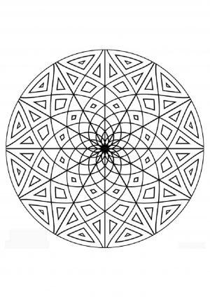 Узор в кругу распечатать