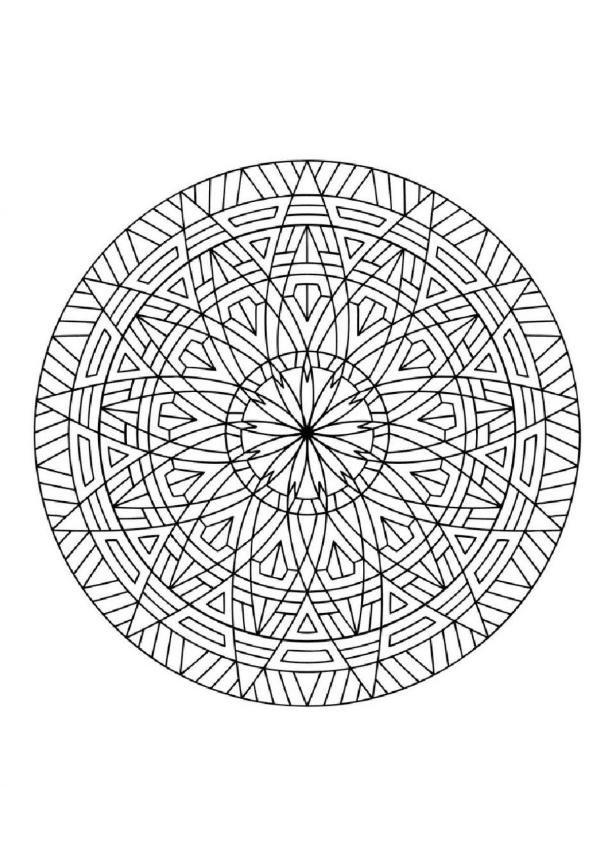 "Раскраска ""Круг с узором"" - Раскраски А4 формата для ..."