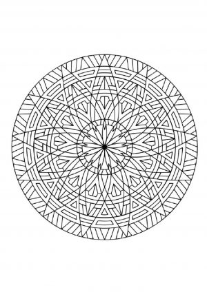 Раскраска круг с узором