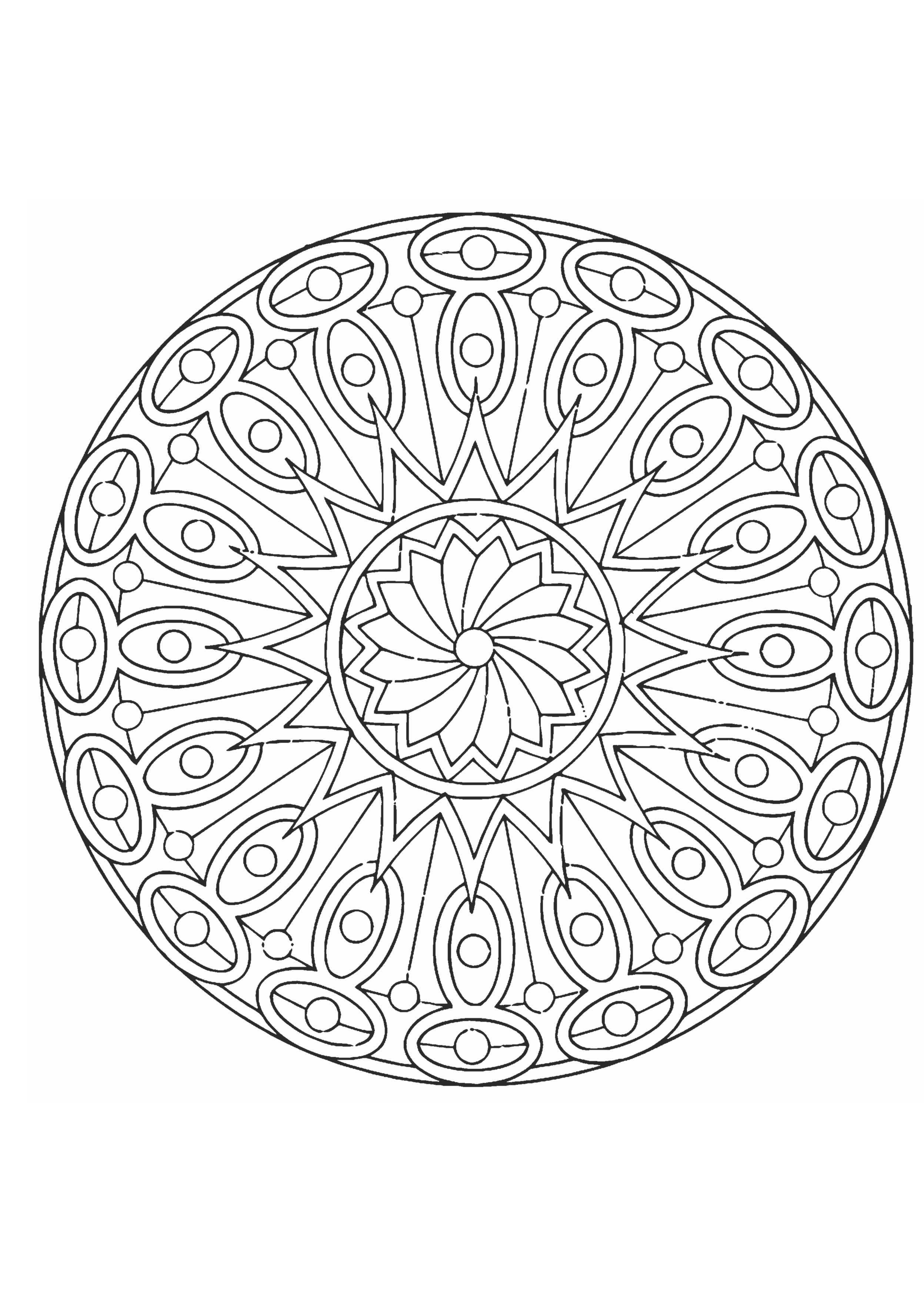 раскраска тарелка с узором раскраски а4 формата для