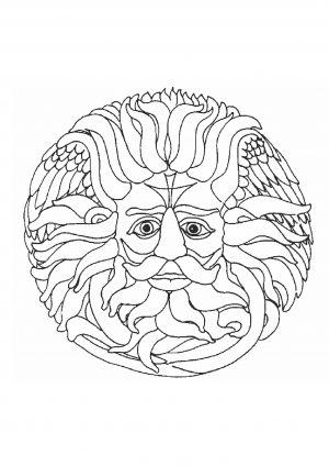 Раскраска нтистресс простая бог солнца