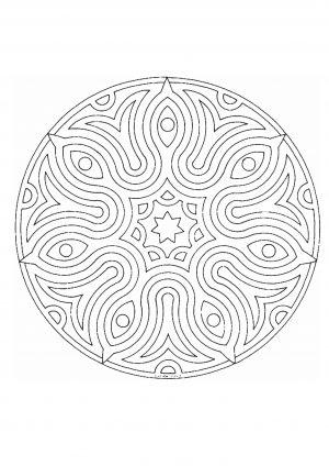 Раскраска антистресс круговой узор