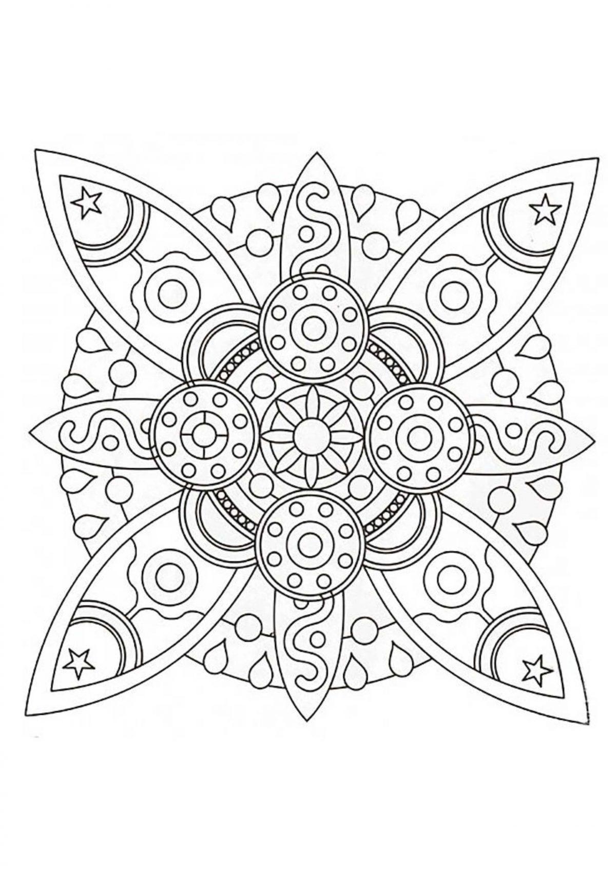 Раскраска антистресс круг с необычным узором - Раскраски ...