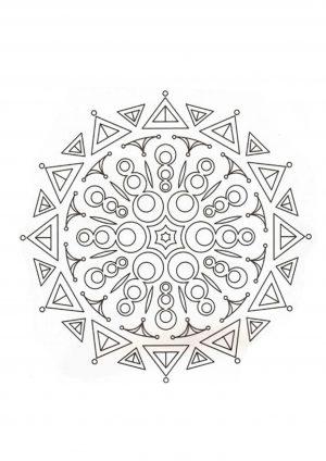 Узор в круге распечатать на листе А4