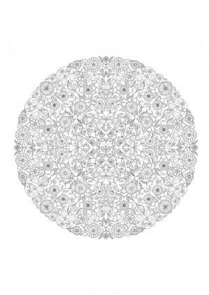 Раскраска узор в круге распечатать