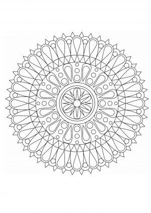 Раскраска антистресс с узором в круге