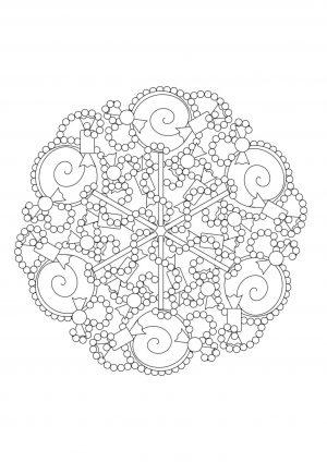 Раскраска антистресс с узором из кругов