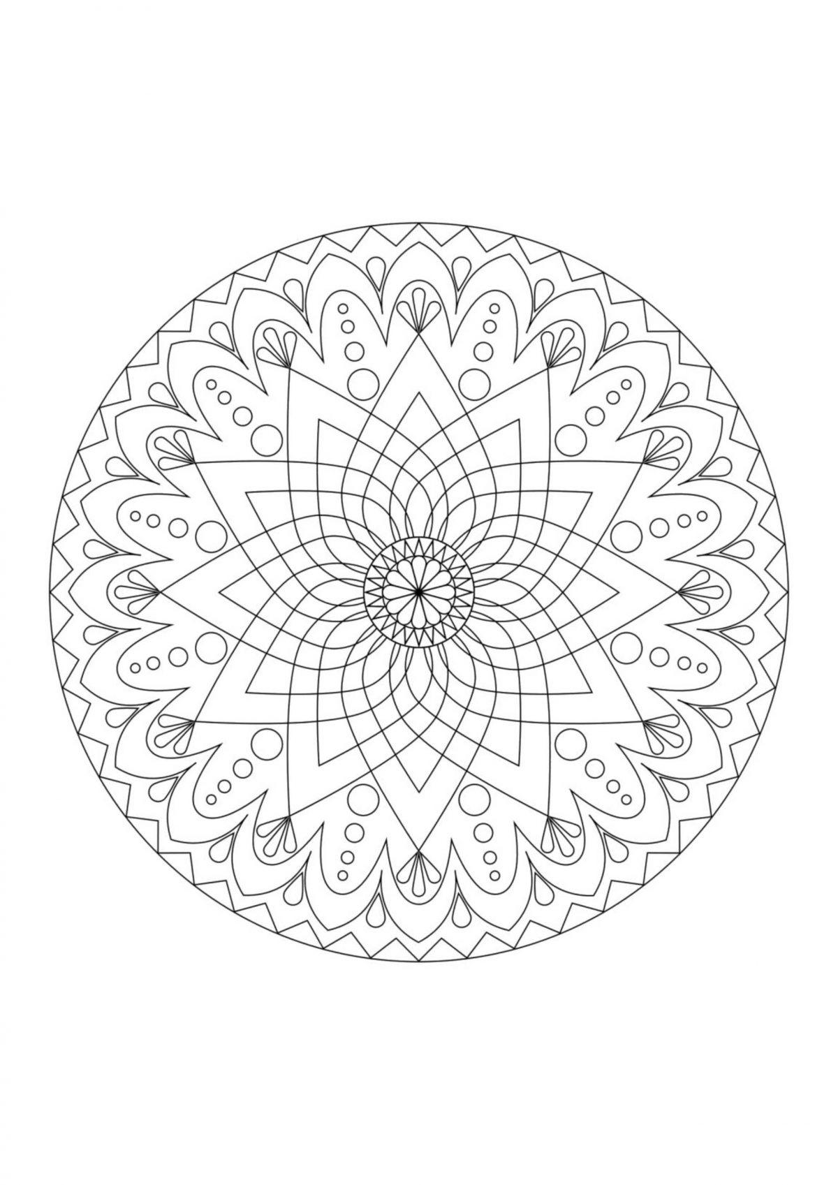 "Раскраска ""Узор в круге"" - Раскраски А4 формата для распечатки"