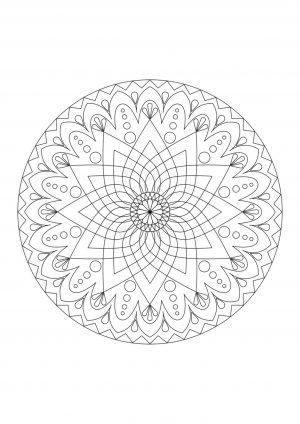 Раскраска узор в круге распечатать на листе А4