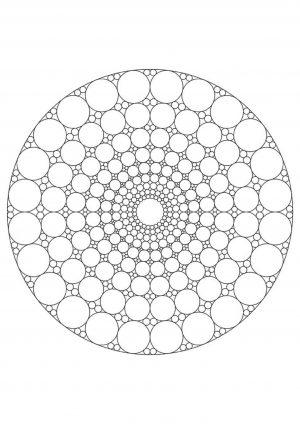 Раскраска круги на поле