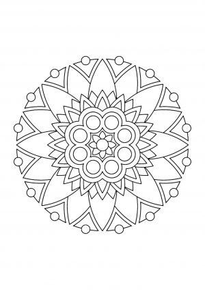 Раскраска узор в круге скачать
