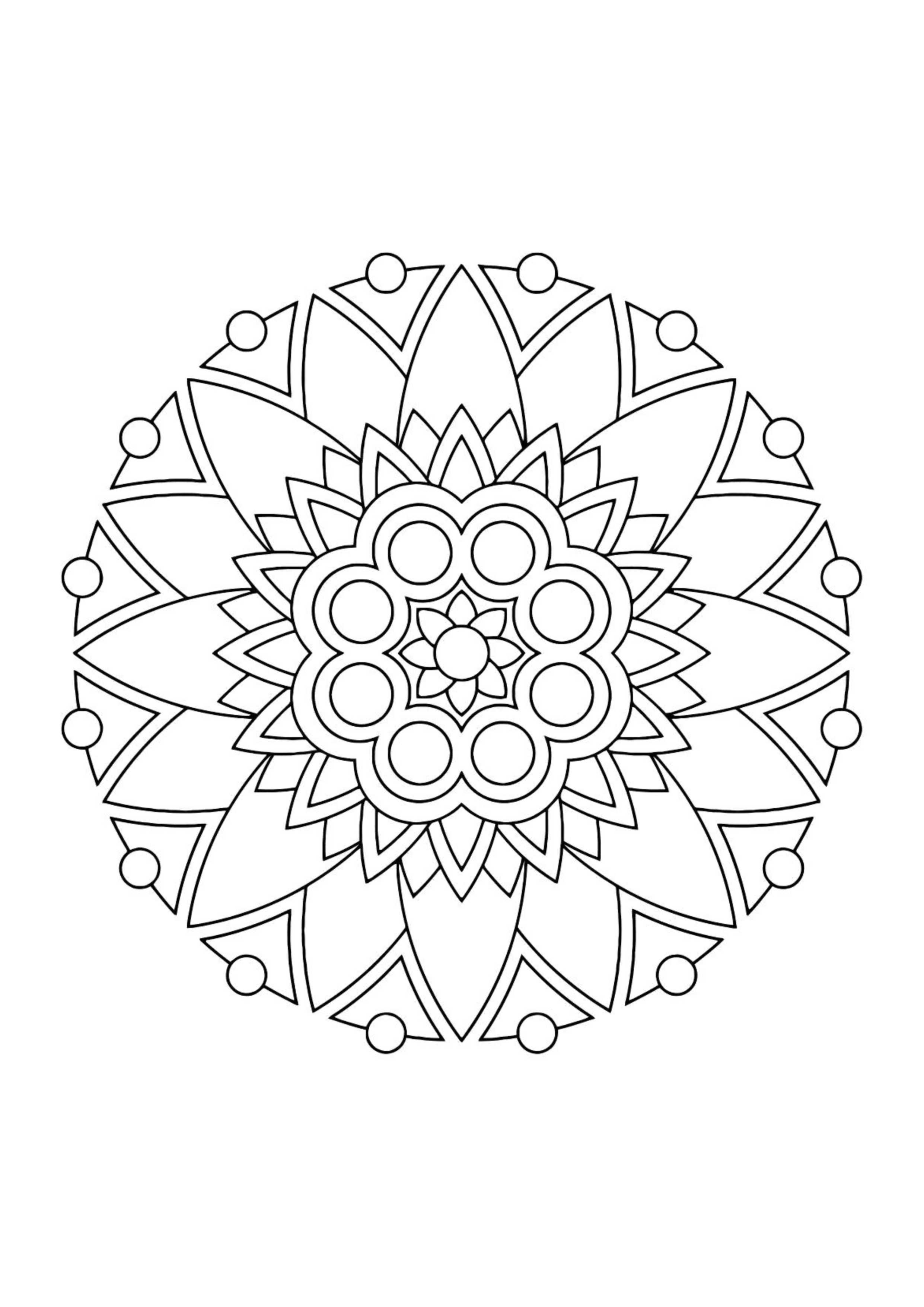 Раскраска антистресс узор в круге - Раскраски А4 формата ...