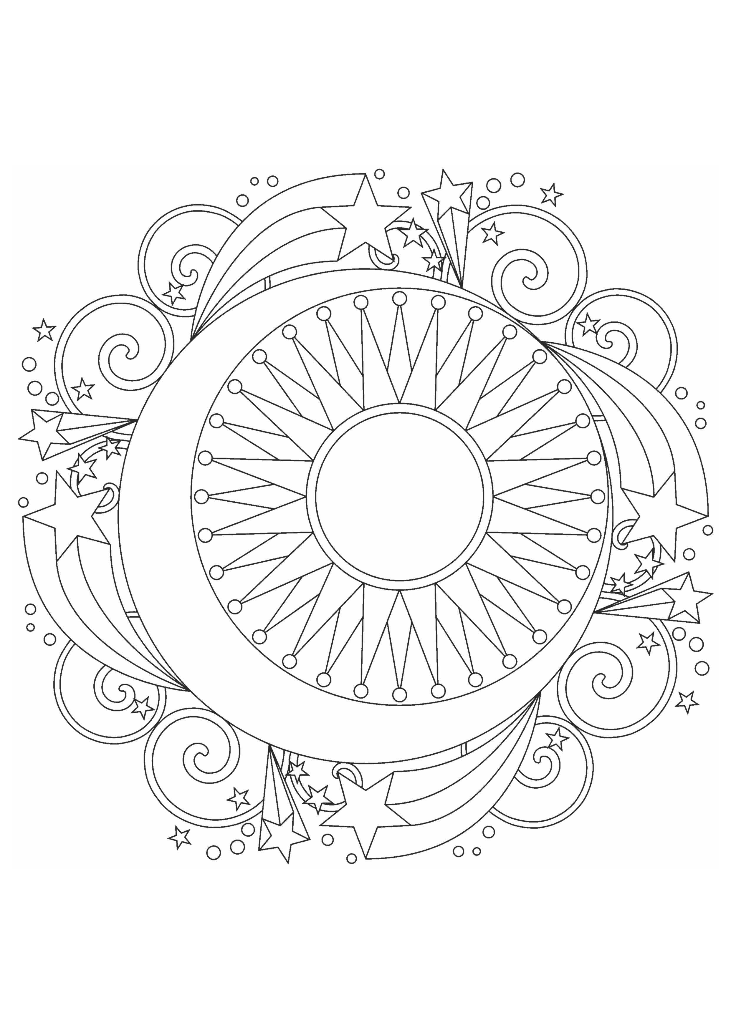 Раскраска - узоры в круге - Раскраски А4 формата для ...
