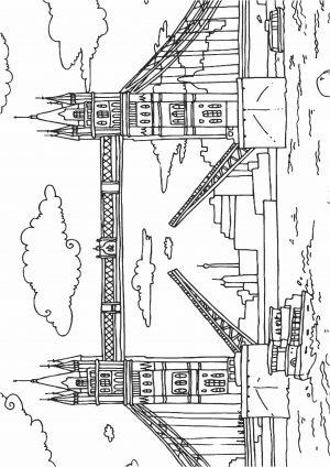 Скачать раскраску Тауэрский мост