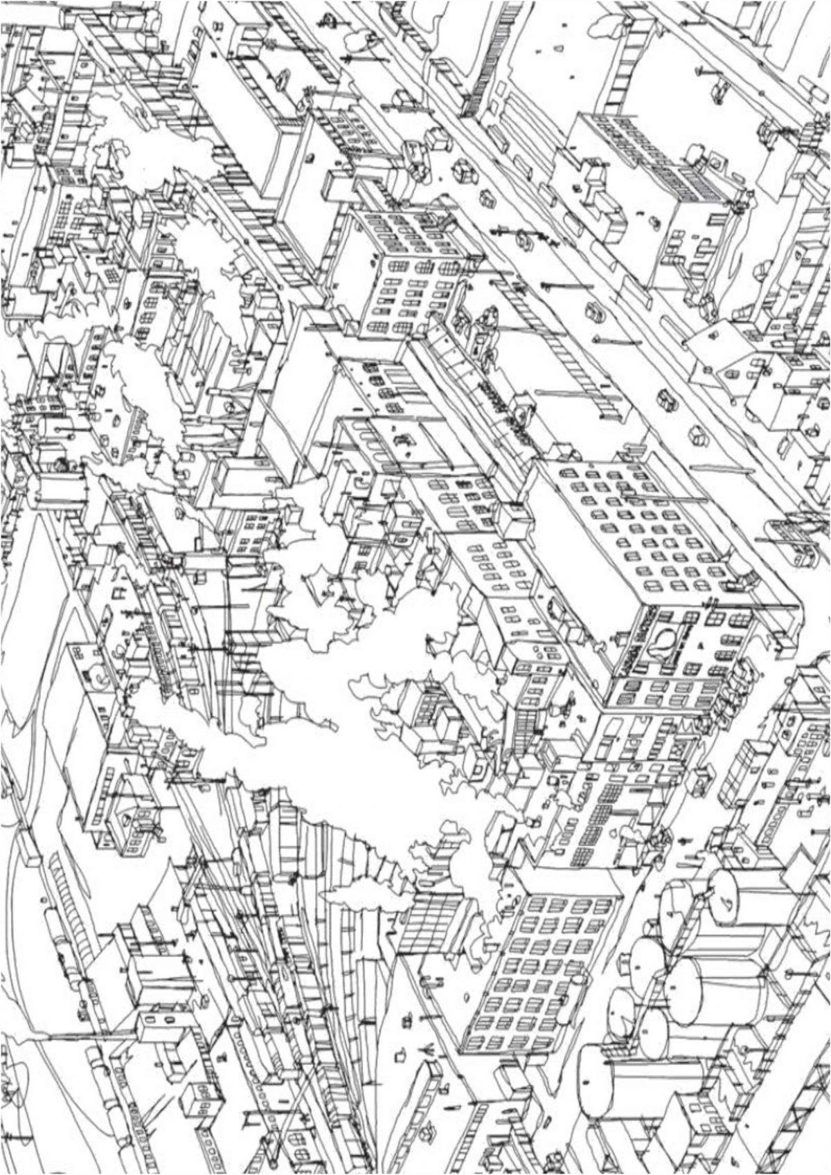 Раскраски антистресс город - Раскраски А4 формата для ...