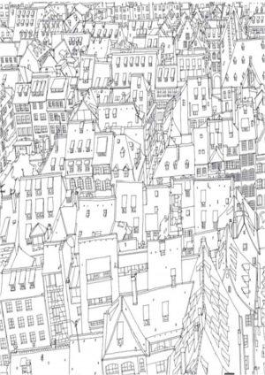 Раскраска город скачать