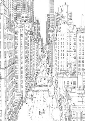 Раскраска большой город