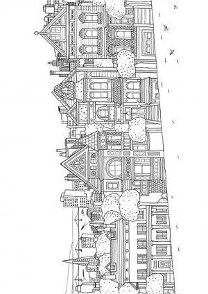 Раскраска города (антистресс для взрослых) - Раскраски А4 ...