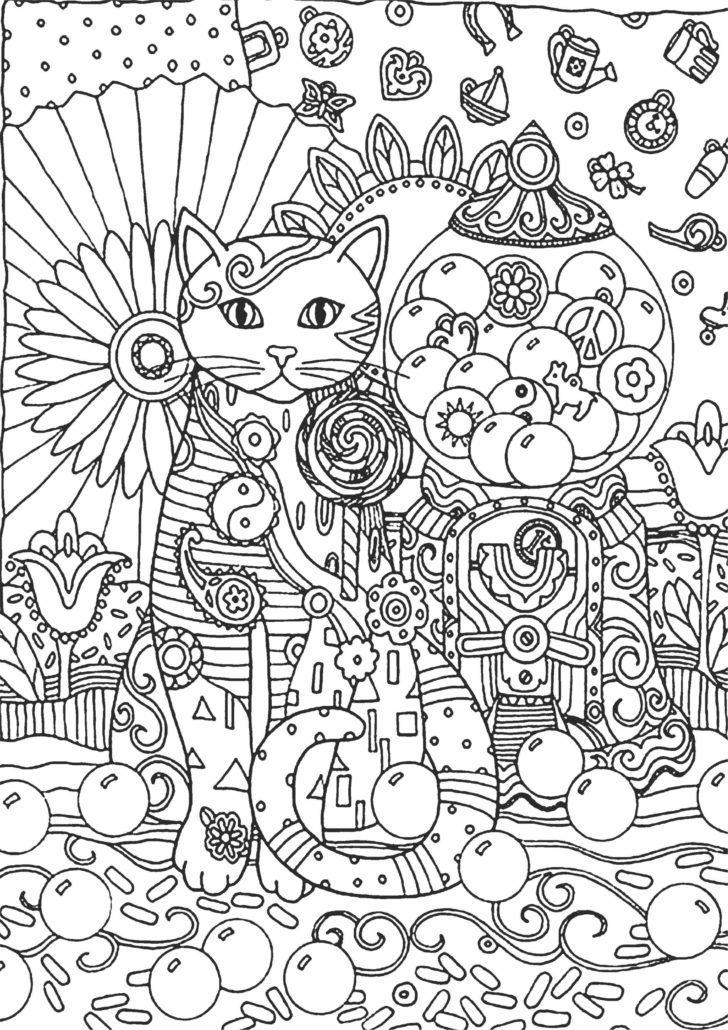 """Раскраска антистресс Котик"""" - Раскраски А4 формата для ..."""