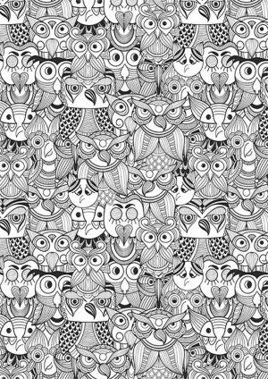 Абстракция с совами