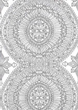 Раскраска круговая абстракция