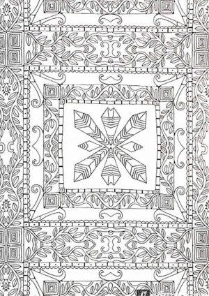 Раскраска с узорв в квадрате