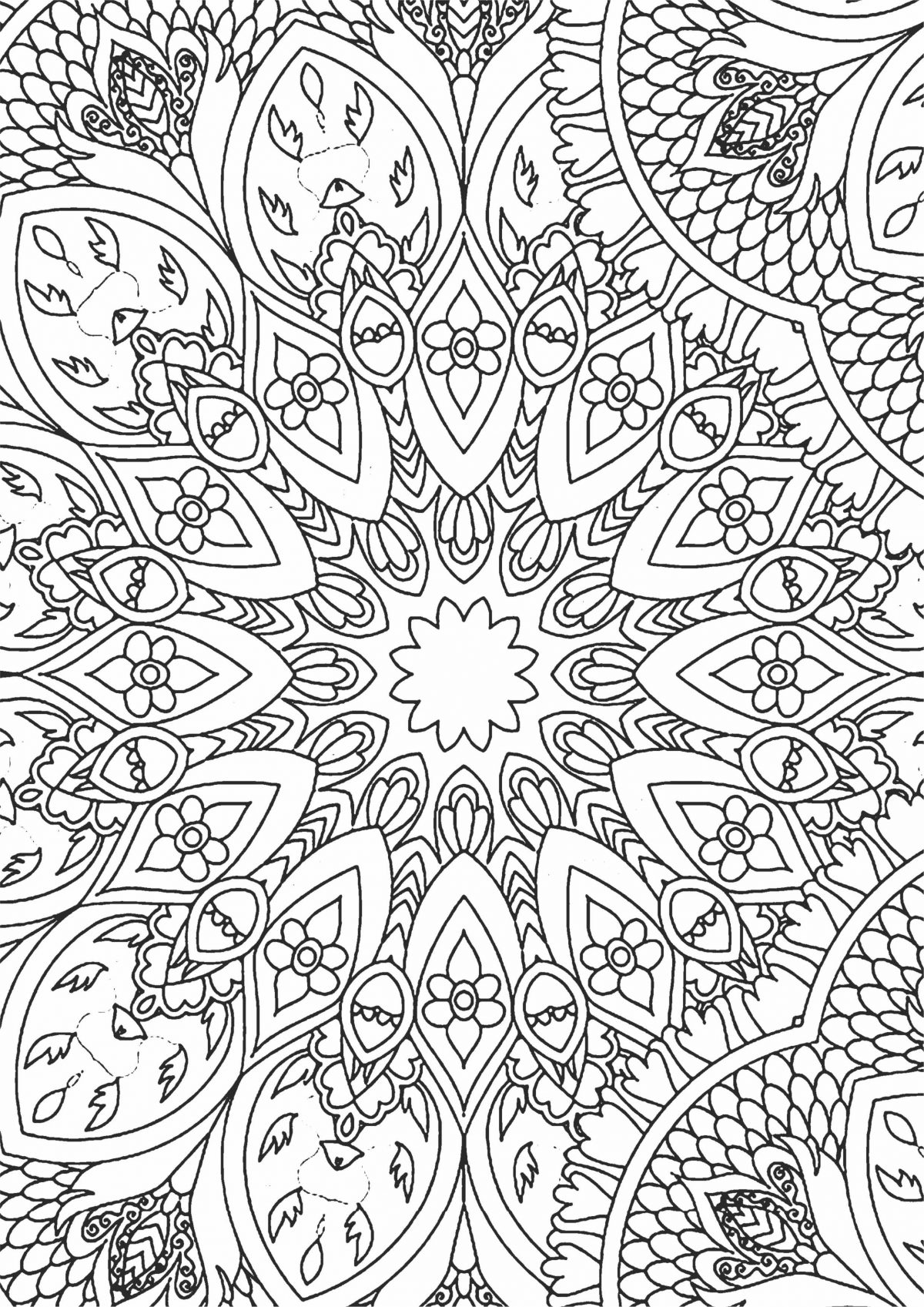Раскраска Круглая абстракция