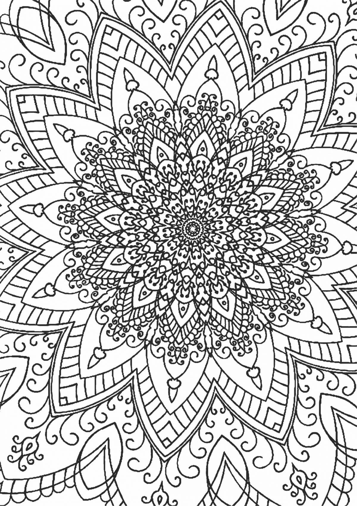 Раскраска с кругом и узором