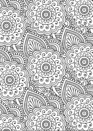 Раскраска с сложными цветами