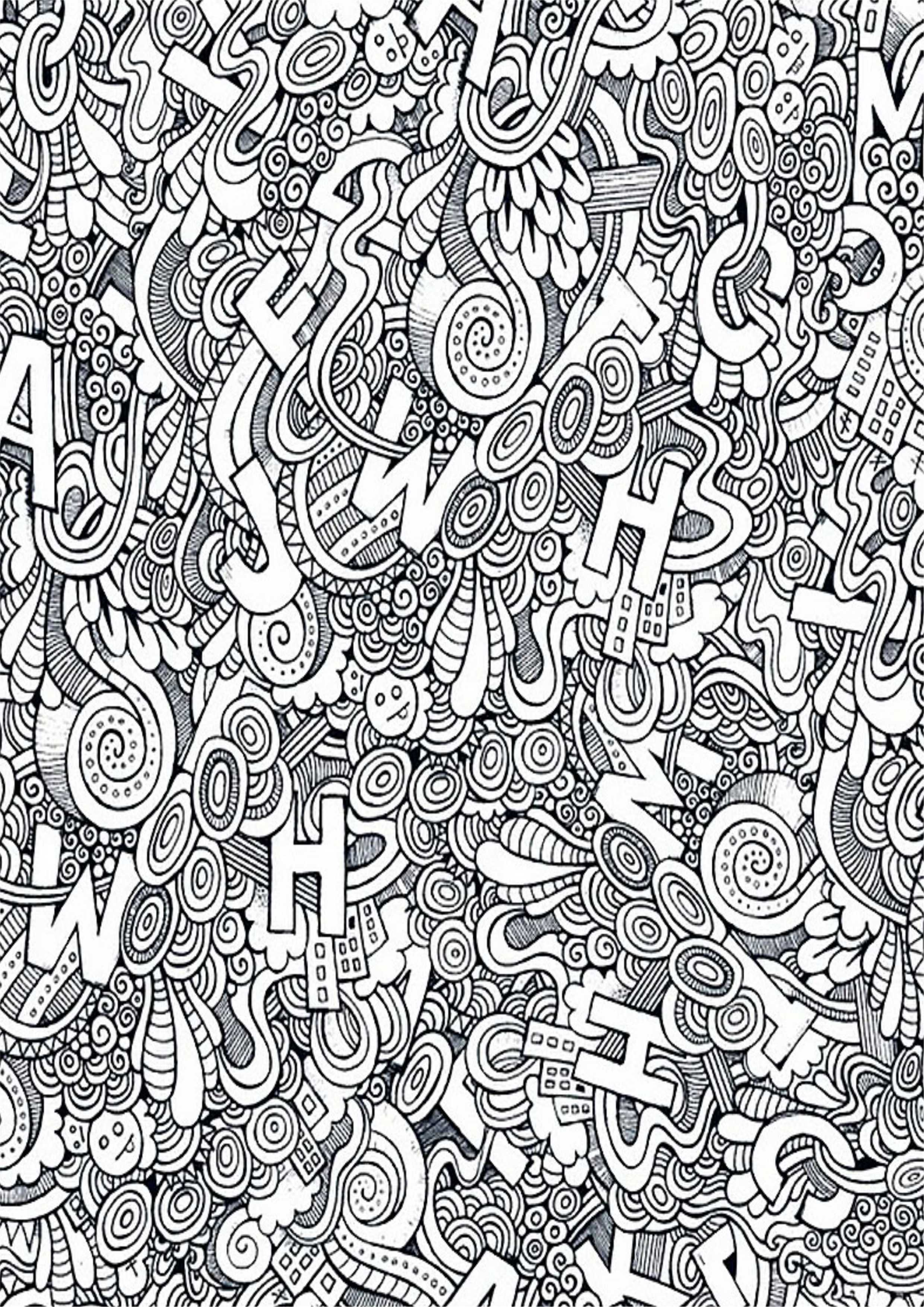 раскраска антистресс буквы и узоры раскраски а4 формата