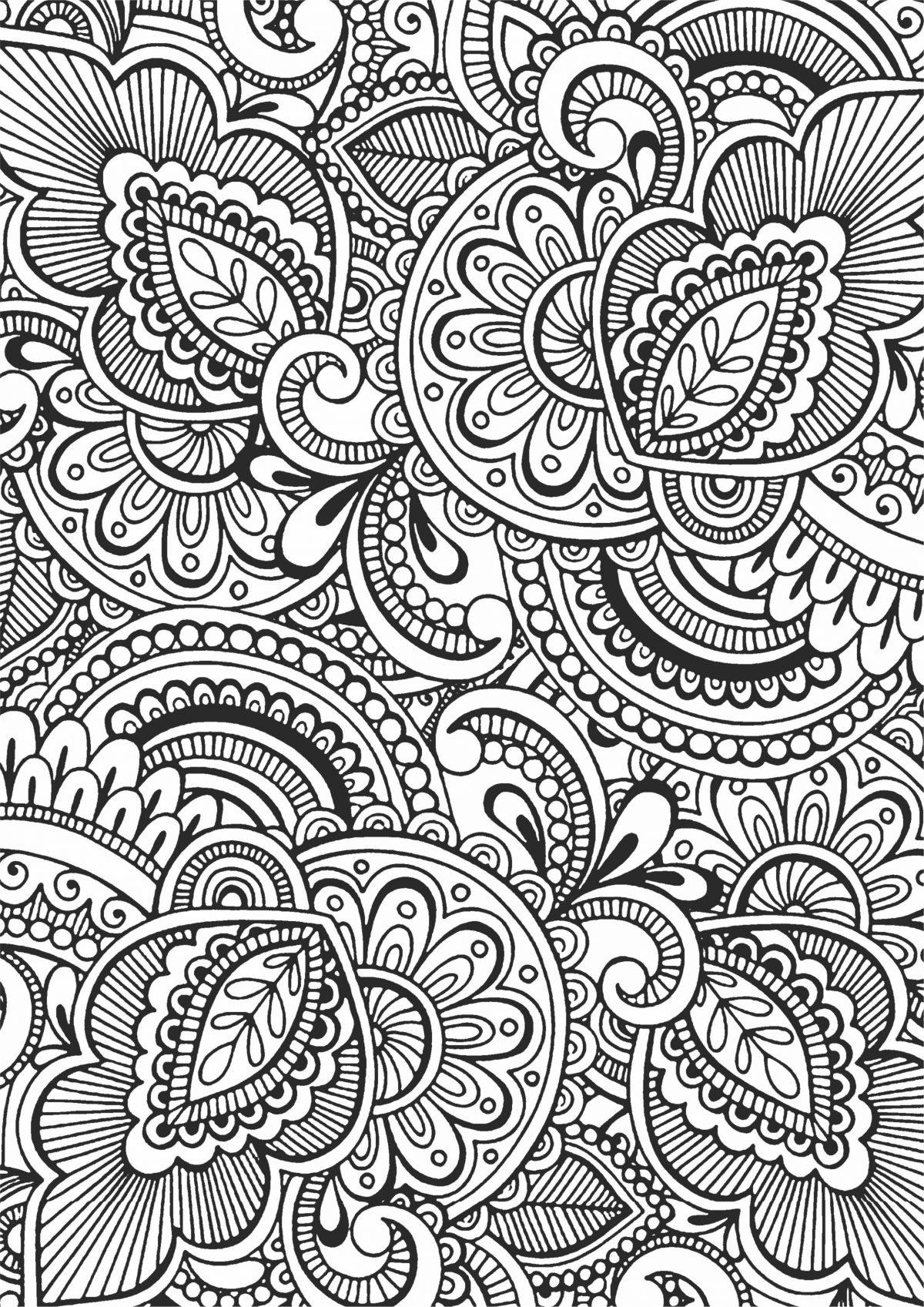 Раскраска антистресс сложные узоры - Раскраски А4 формата ...