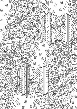 Раскраска с цветами в вазе абстракция