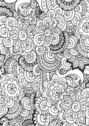 Раскраска сложный узором