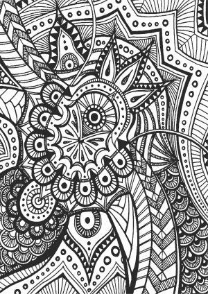 Раскраска с сложным узором