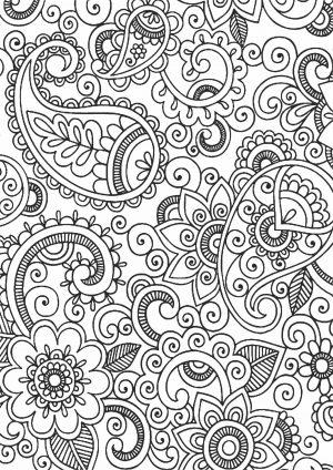 Раскраска узор сложный