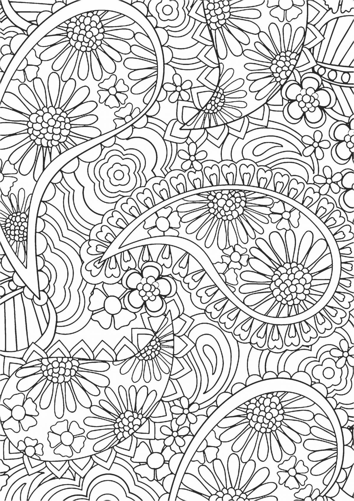 Раскраска с узорами и цветами
