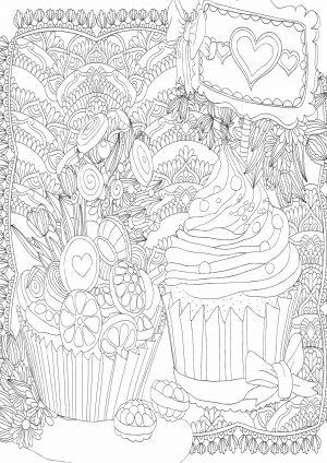Раскраска с кексами